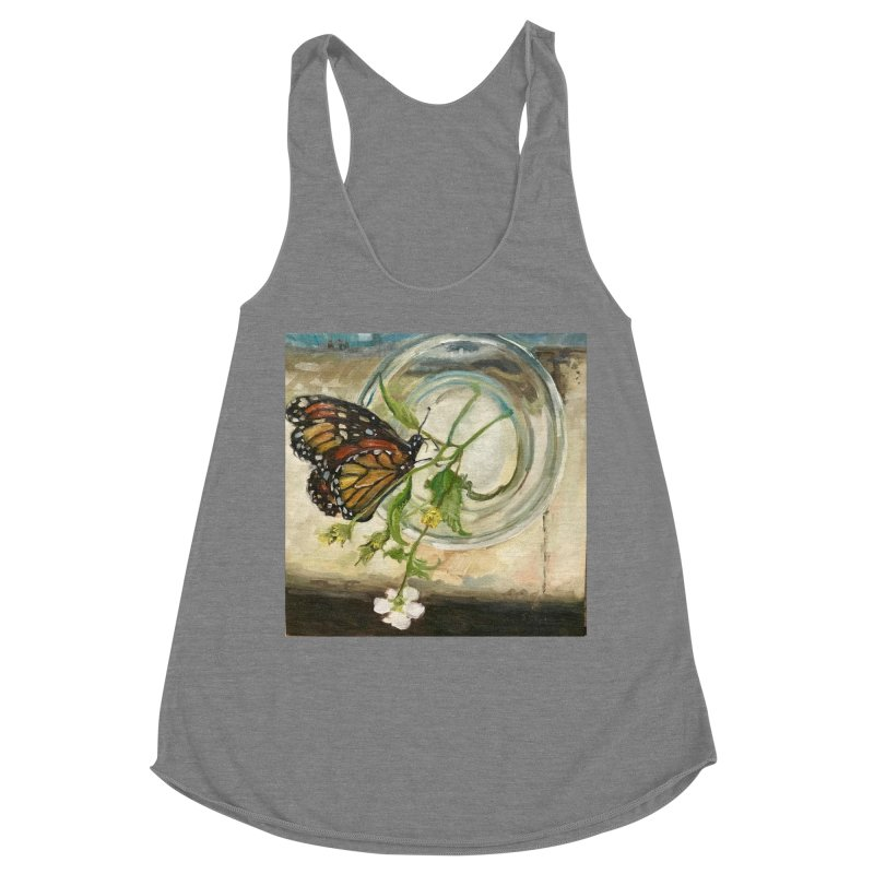 Butterfly with Clovers Women's Racerback Triblend Tank by JPayneArt's Artist Shop