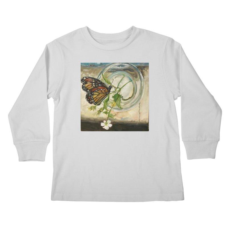 Butterfly with Clovers Kids Longsleeve T-Shirt by JPayneArt's Artist Shop
