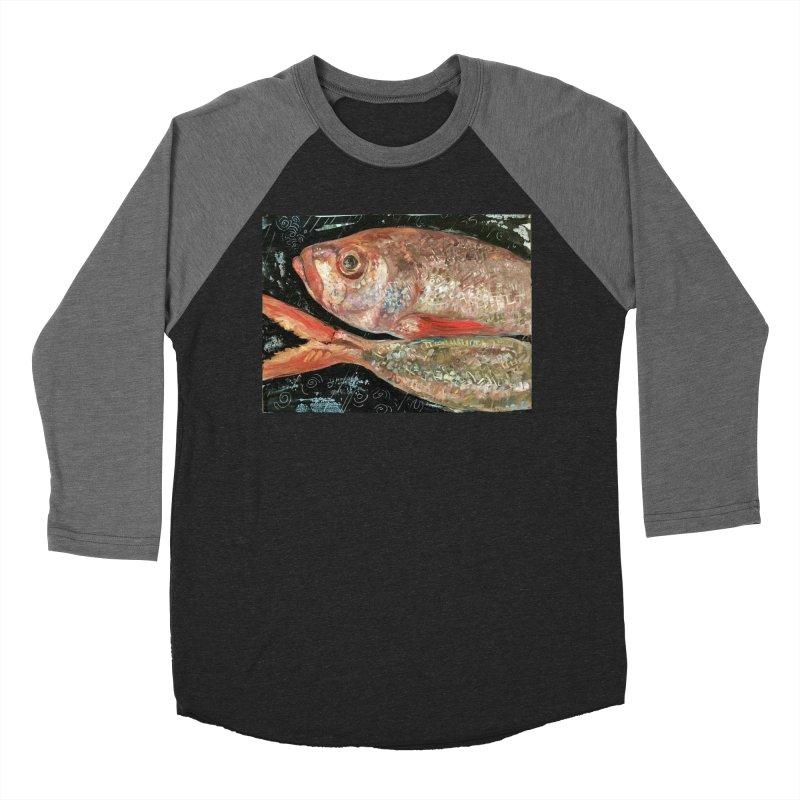 Fish Design Women's Baseball Triblend Longsleeve T-Shirt by JPayneArt's Artist Shop