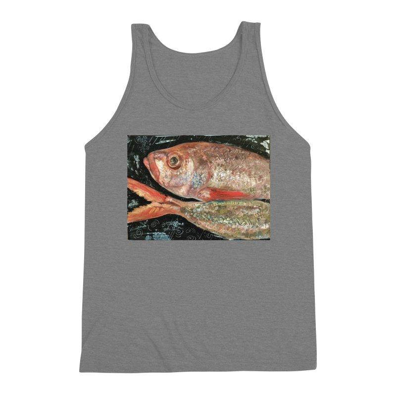 Fish Design Men's Triblend Tank by JPayneArt's Artist Shop