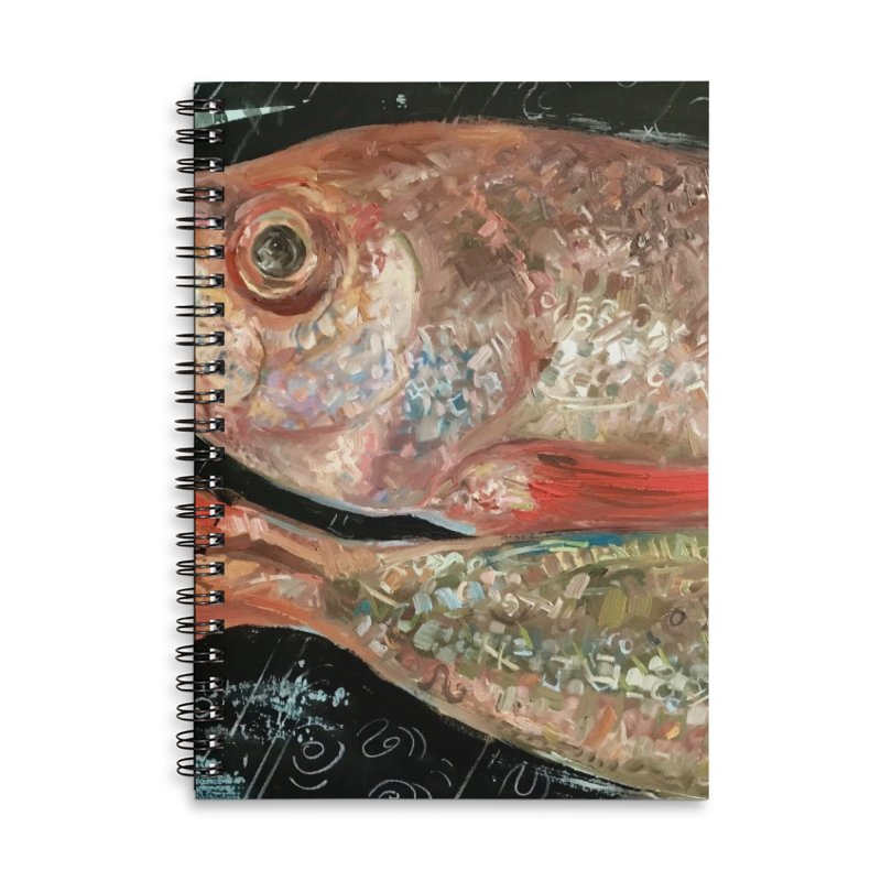 Fish Design Accessories Lined Spiral Notebook by JPayneArt's Artist Shop
