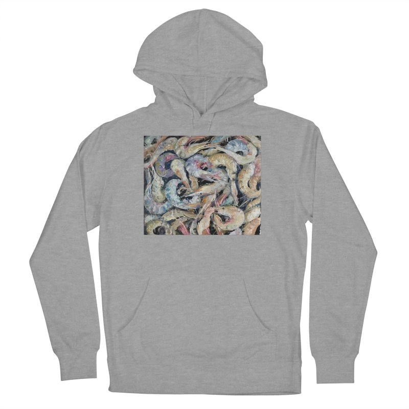 Fresh Colorful Shrimp Men's French Terry Pullover Hoody by JPayneArt's Artist Shop
