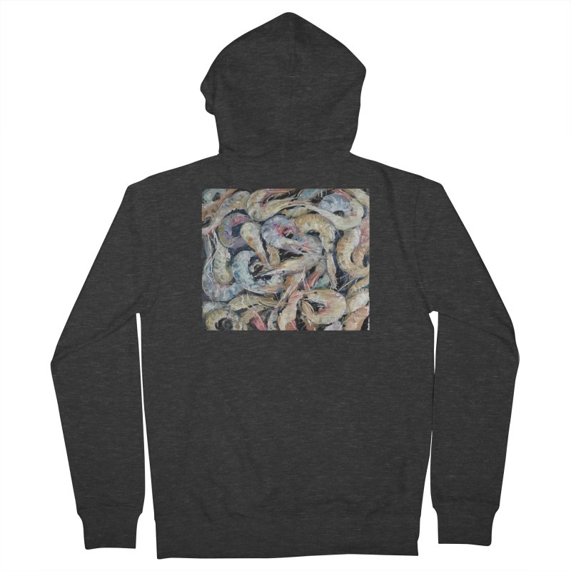 Fresh Colorful Shrimp Men's French Terry Zip-Up Hoody by JPayneArt's Artist Shop