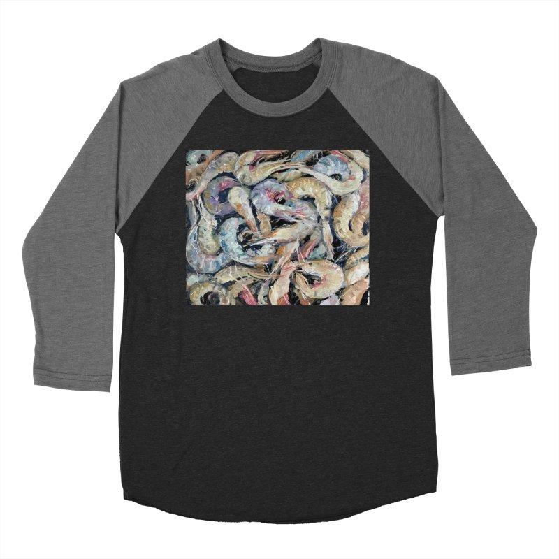 Fresh Colorful Shrimp Women's Baseball Triblend Longsleeve T-Shirt by JPayneArt's Artist Shop
