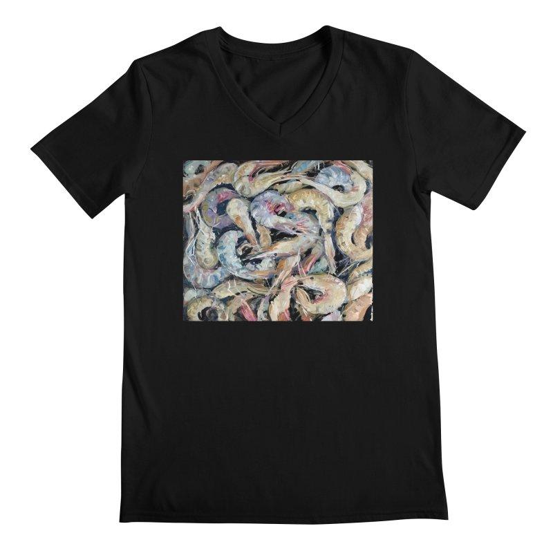 Fresh Colorful Shrimp Men's Regular V-Neck by JPayneArt's Artist Shop