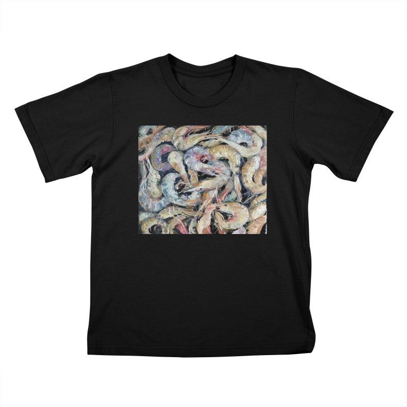 Fresh Colorful Shrimp Kids T-Shirt by JPayneArt's Artist Shop