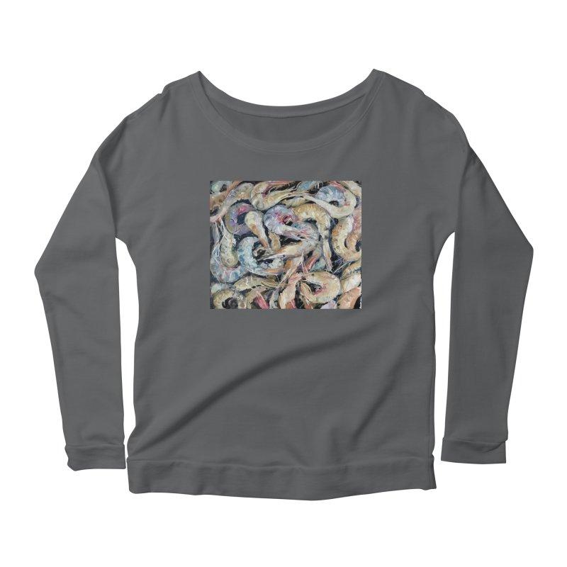 Fresh Colorful Shrimp Women's Longsleeve T-Shirt by JPayneArt's Artist Shop