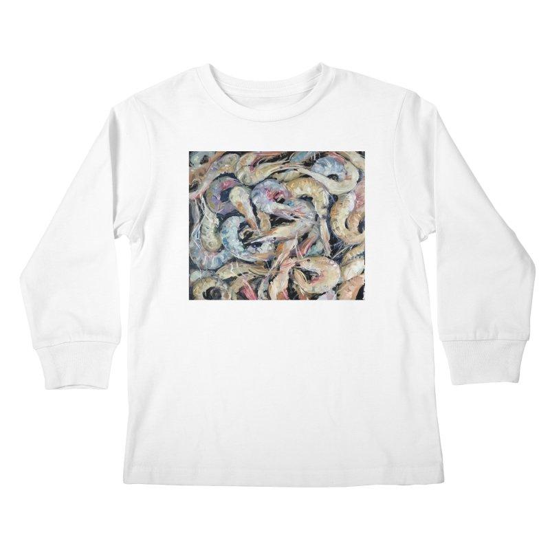 Fresh Colorful Shrimp Kids Longsleeve T-Shirt by JPayneArt's Artist Shop