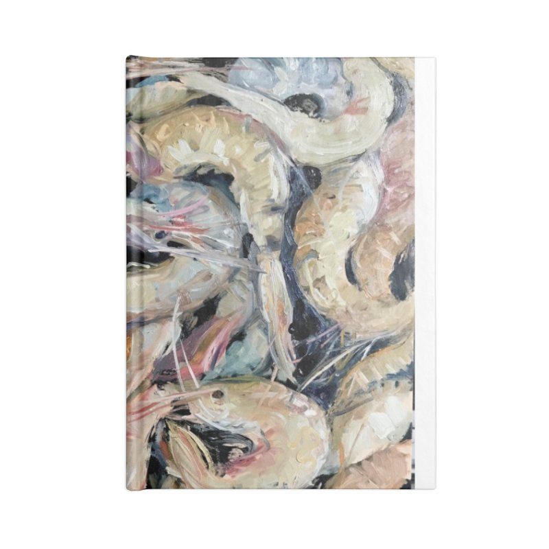 Fresh Colorful Shrimp Accessories Lined Journal Notebook by JPayneArt's Artist Shop