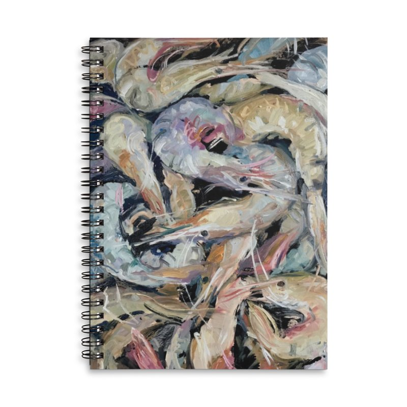 Fresh Colorful Shrimp Accessories Lined Spiral Notebook by JPayneArt's Artist Shop