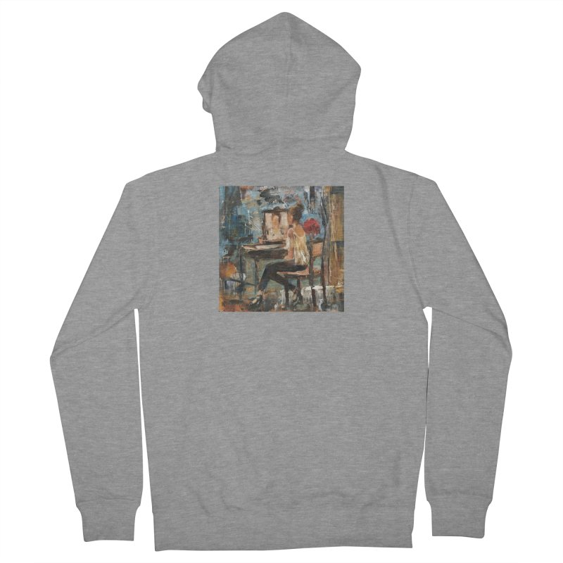 BackStage Women's French Terry Zip-Up Hoody by JPayneArt's Artist Shop
