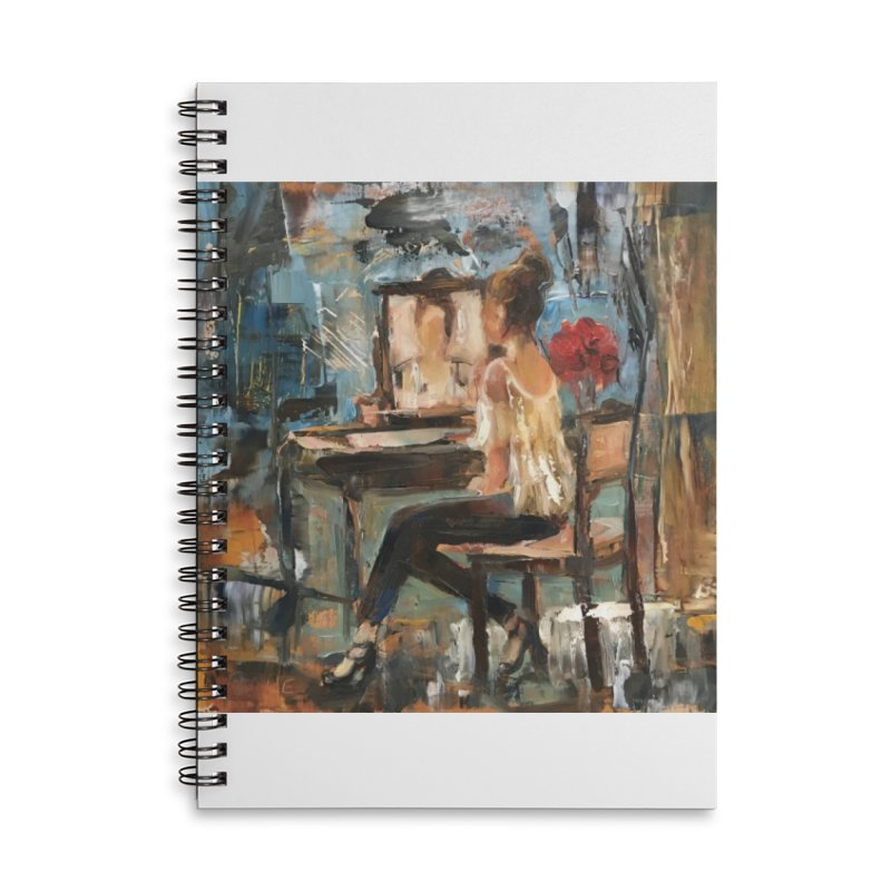 BackStage Accessories Lined Spiral Notebook by JPayneArt's Artist Shop