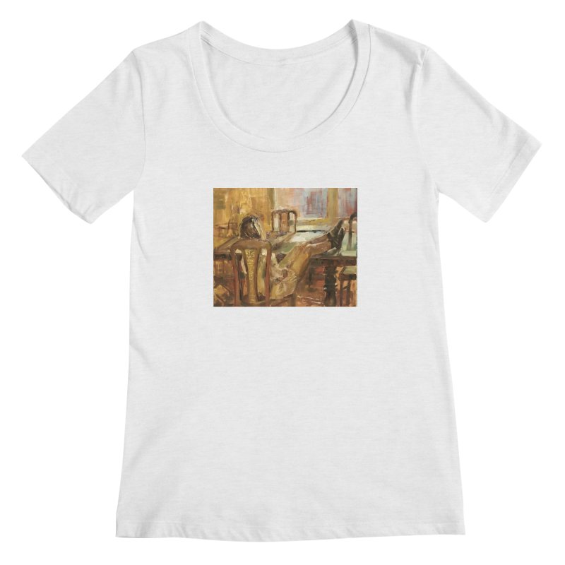 Day Dreaming Women's Regular Scoop Neck by JPayneArt's Artist Shop