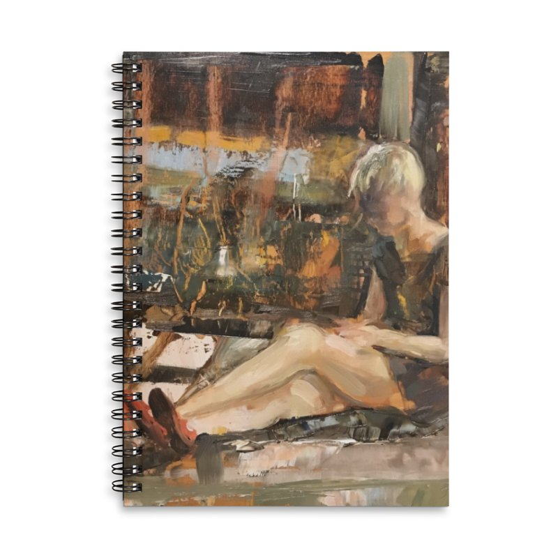 Red Shoes Accessories Lined Spiral Notebook by JPayneArt's Artist Shop