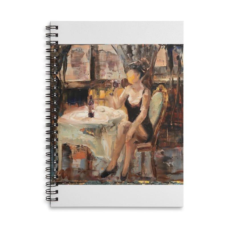 Little Black Dress Accessories Lined Spiral Notebook by JPayneArt's Artist Shop