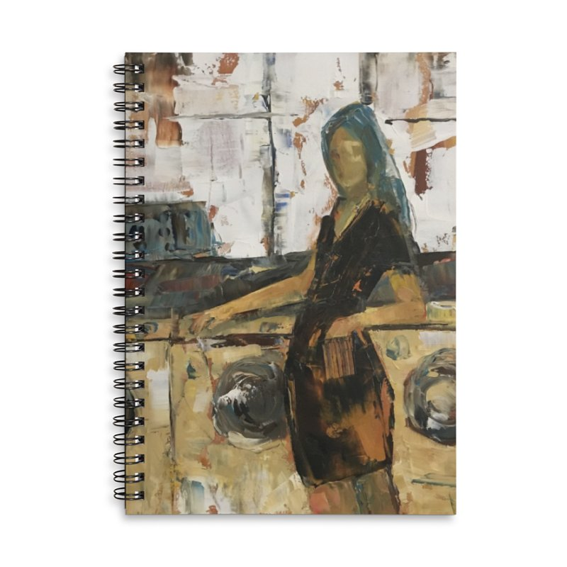 Laundry Day Accessories Lined Spiral Notebook by JPayneArt's Artist Shop