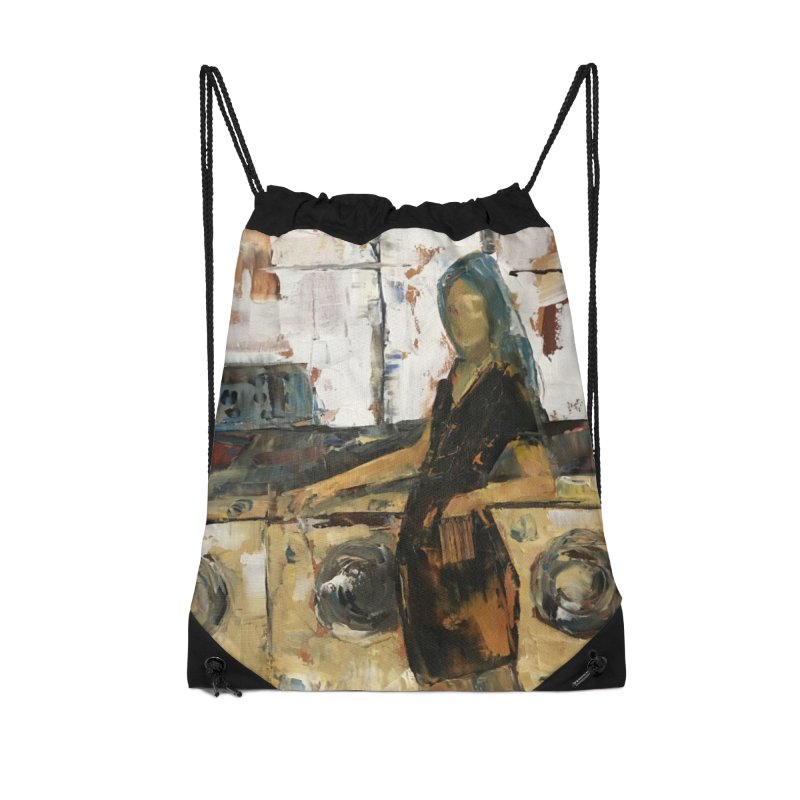 Laundry Day Accessories Drawstring Bag Bag by JPayneArt's Artist Shop