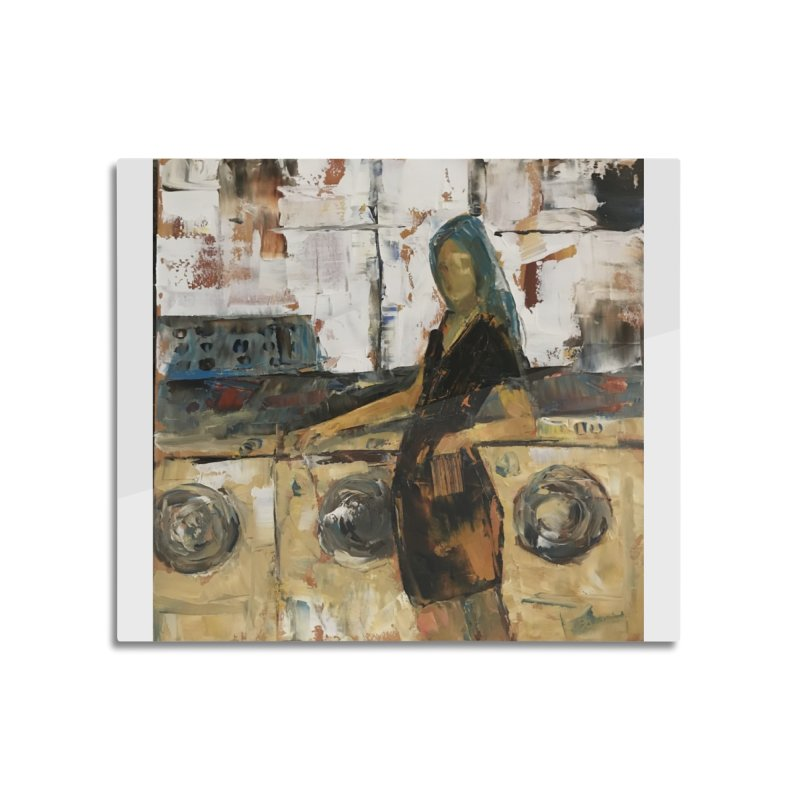 Laundry Day Home Mounted Aluminum Print by JPayneArt's Artist Shop