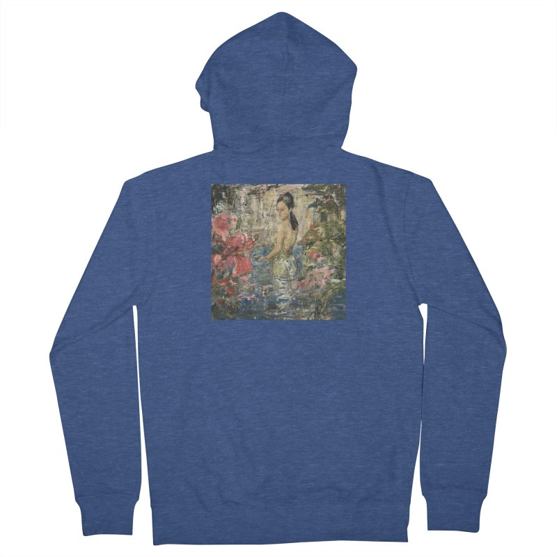 Naupaka Women's French Terry Zip-Up Hoody by JPayneArt's Artist Shop