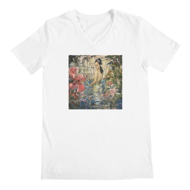Naupaka Men's V-Neck by JPayneArt's Artist Shop