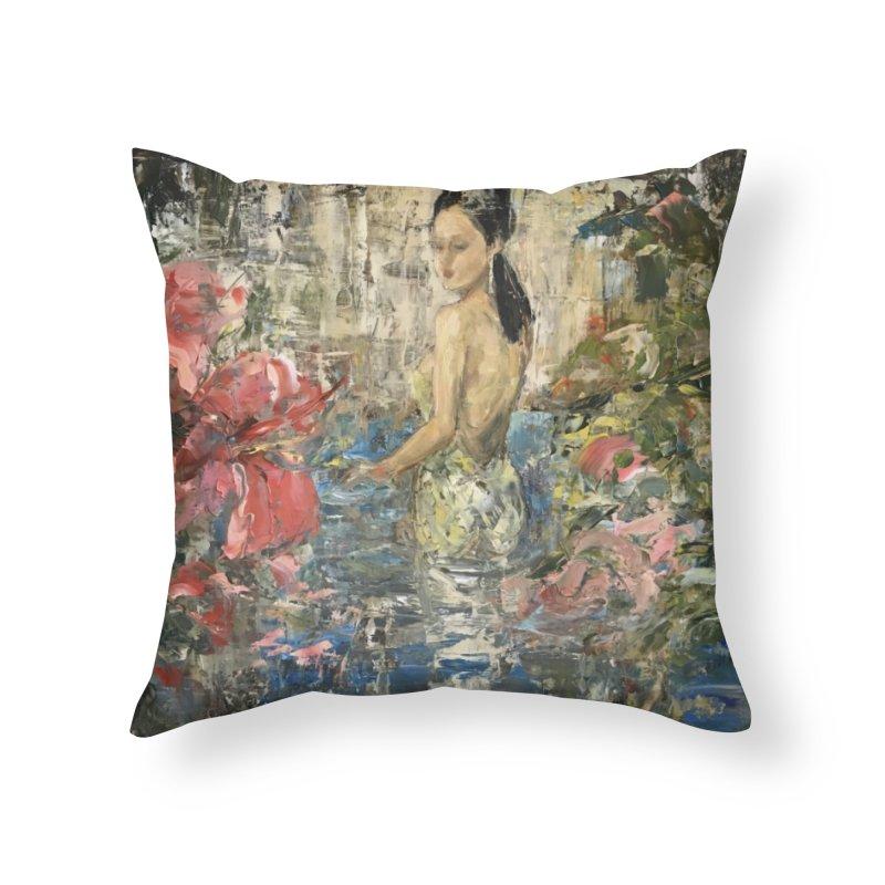 Naupaka Home Throw Pillow by JPayneArt's Artist Shop
