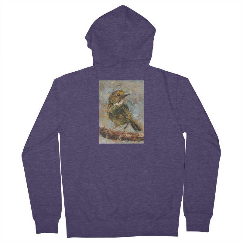 Little Bird Men's French Terry Zip-Up Hoody by JPayneArt's Artist Shop