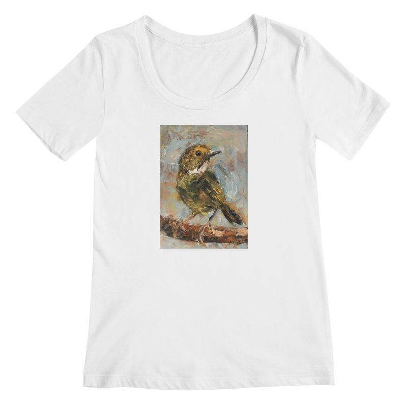 Little Bird Women's Regular Scoop Neck by JPayneArt's Artist Shop