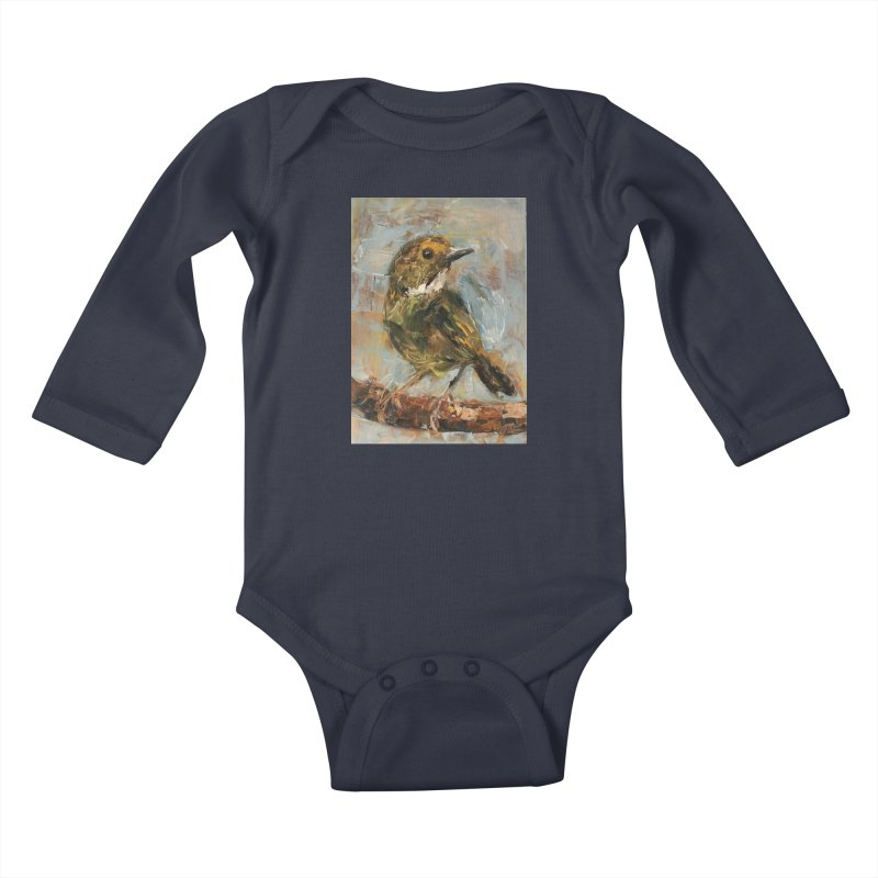 Little Bird Kids Baby Longsleeve Bodysuit by JPayneArt's Artist Shop