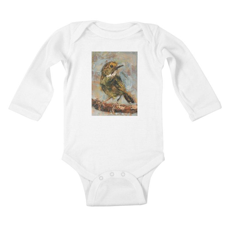 Little Bird Kids Baby Longsleeve Bodysuit by JPayneArt's Artist Shop