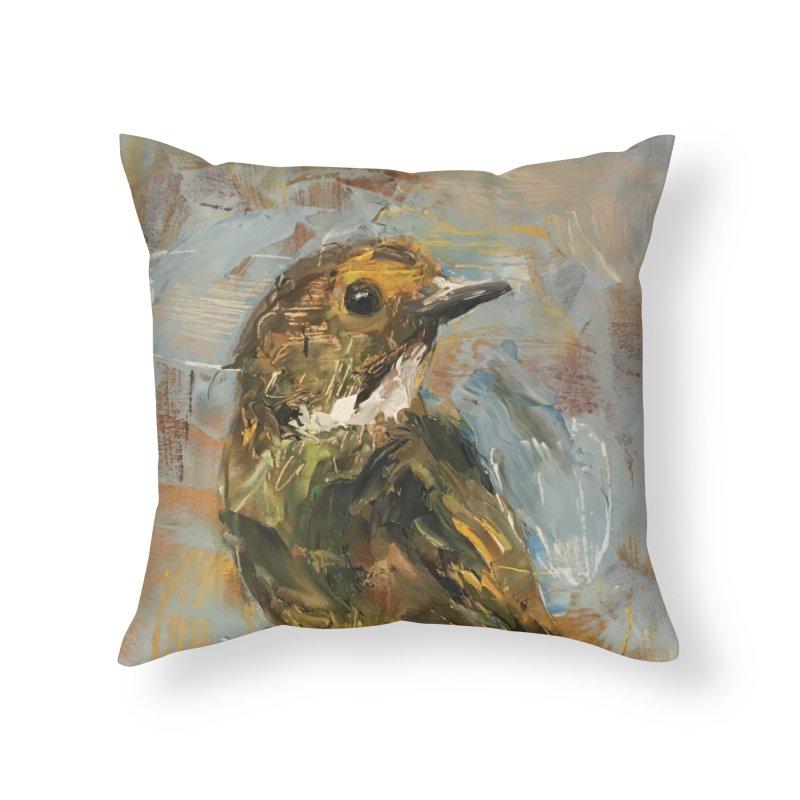 Little Bird Home Throw Pillow by JPayneArt's Artist Shop