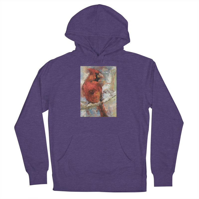 Cardinal Women's French Terry Pullover Hoody by JPayneArt's Artist Shop