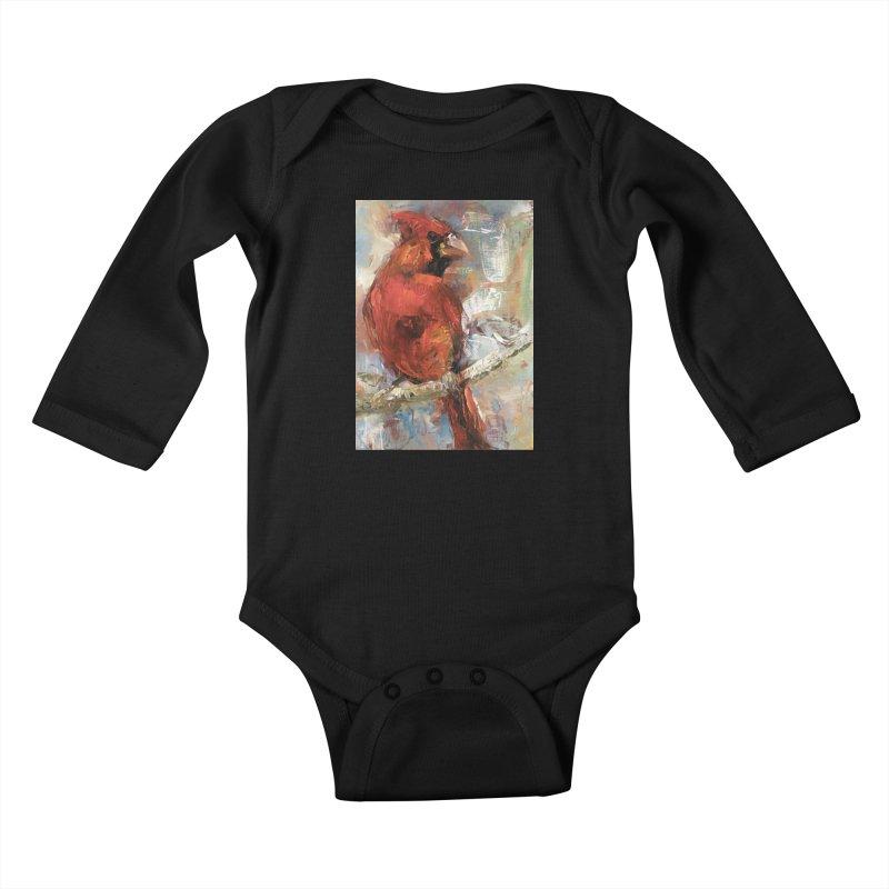 Cardinal Kids Baby Longsleeve Bodysuit by JPayneArt's Artist Shop
