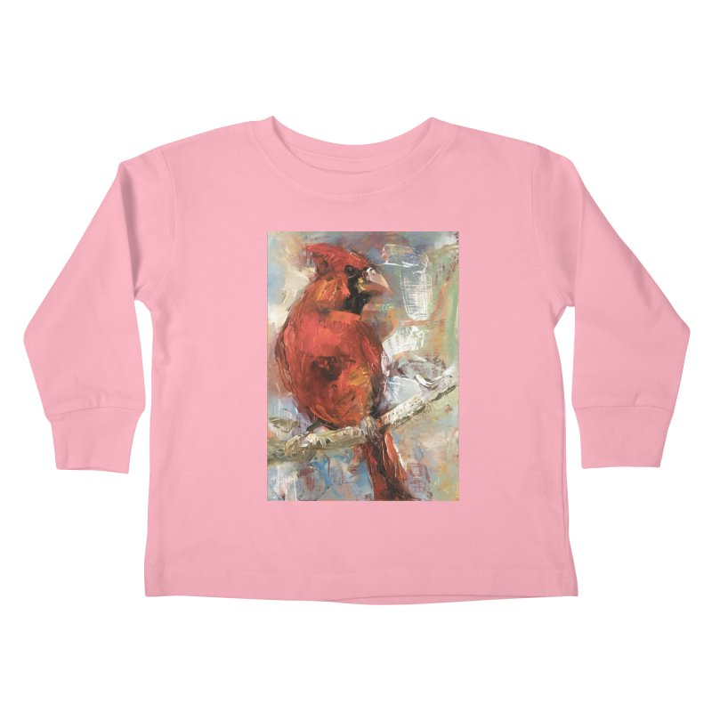 Cardinal Kids Toddler Longsleeve T-Shirt by JPayneArt's Artist Shop