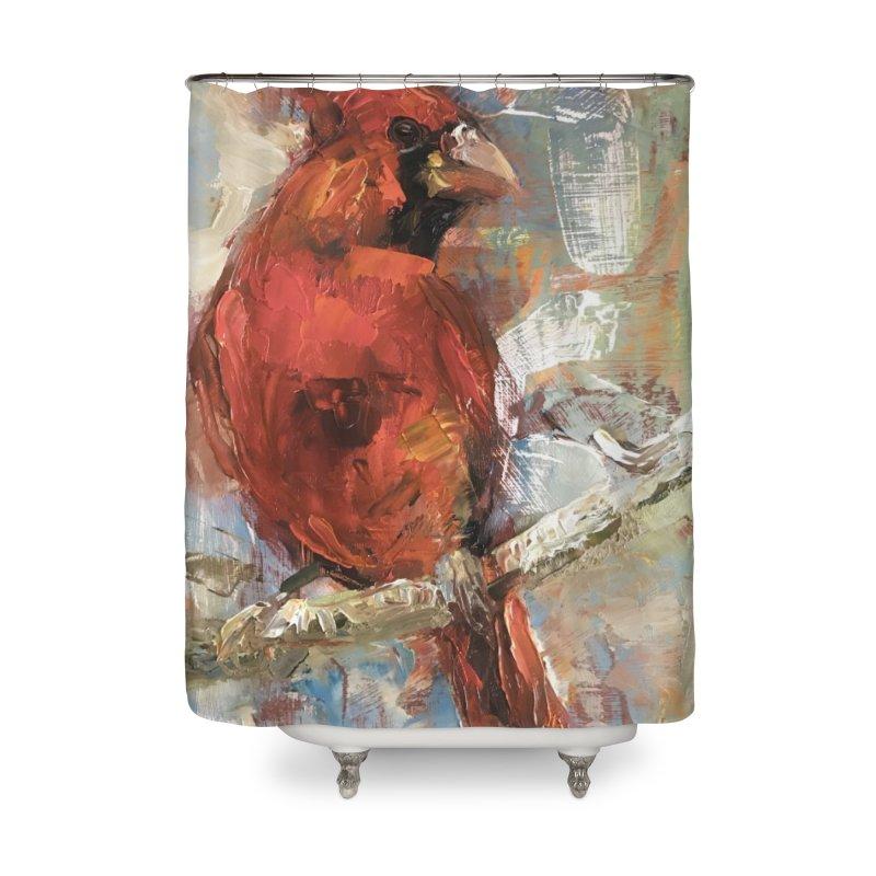 Cardinal Home Shower Curtain by JPayneArt's Artist Shop