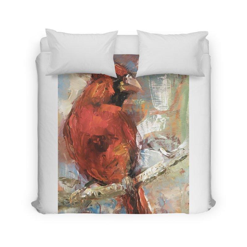 Cardinal Home Duvet by JPayneArt's Artist Shop