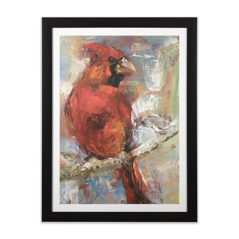 Cardinal Home Framed Fine Art Print by JPayneArt's Artist Shop
