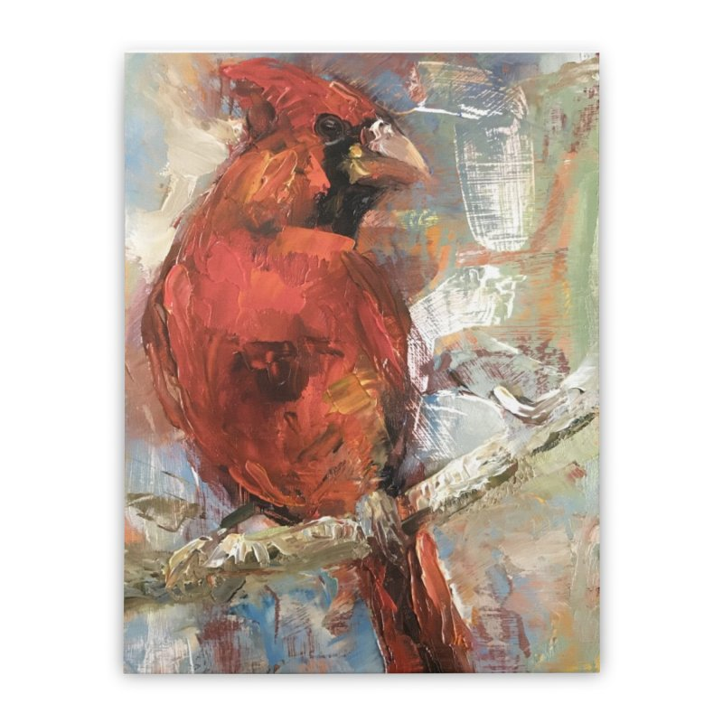 Cardinal Home Stretched Canvas by JPayneArt's Artist Shop