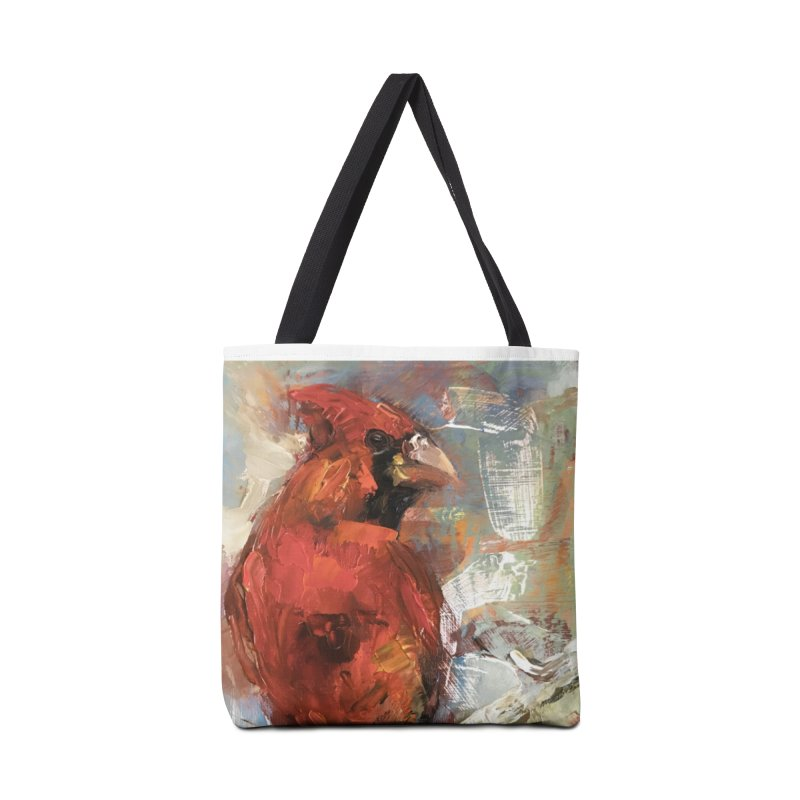 Cardinal Accessories Tote Bag Bag by JPayneArt's Artist Shop