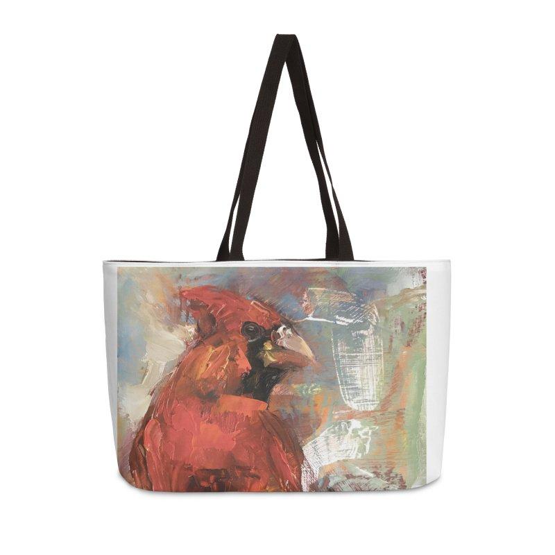 Cardinal Accessories Weekender Bag Bag by JPayneArt's Artist Shop