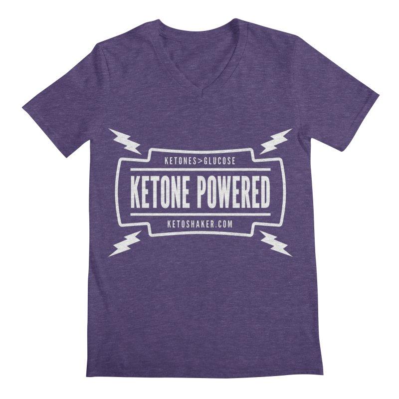 Ketone Powered Too Men's V-Neck by Jac=Jake