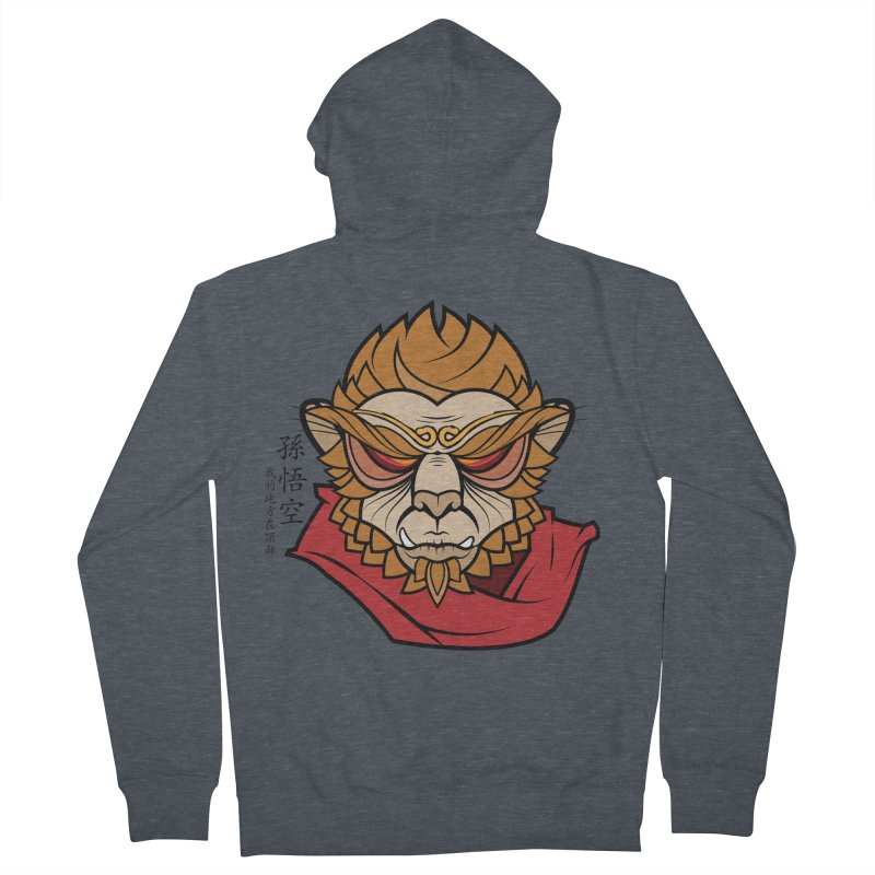Handsome Monkey King Women's Zip-Up Hoody by Jac=Jake