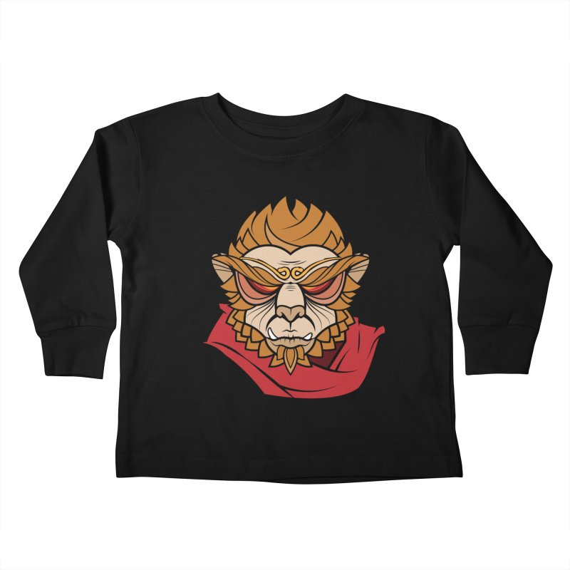 Handsome Monkey King Kids Toddler Longsleeve T-Shirt by Jac=Jake