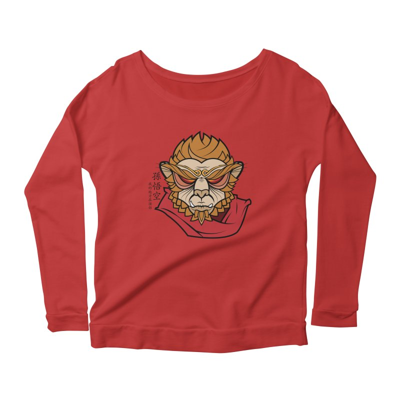 Handsome Monkey King Women's Longsleeve Scoopneck  by Jac=Jake