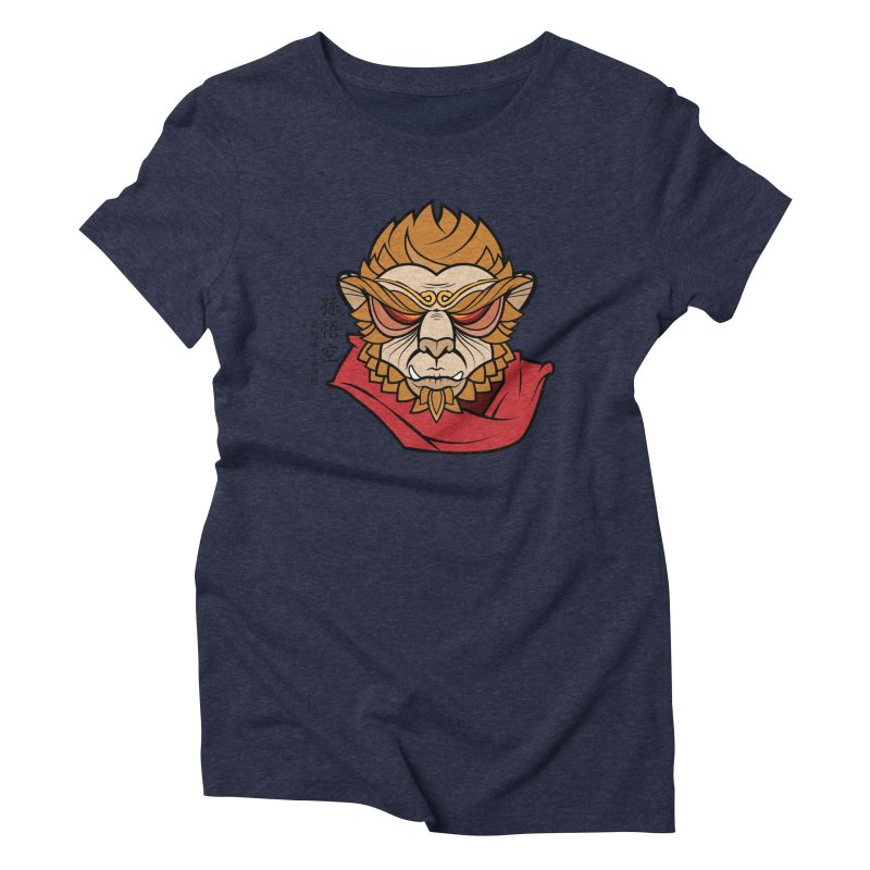 Handsome Monkey King Women's Triblend T-shirt by Jac=Jake