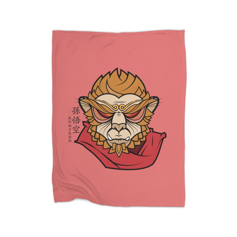 Handsome Monkey King Home Blanket by Jac=Jake