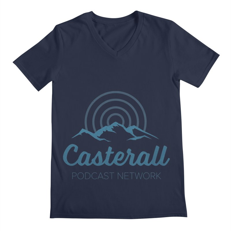 Listen in on the Casterall Podcast Network Men's V-Neck by Jac=Jake