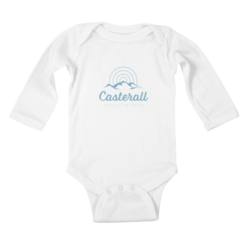 Listen in on the Casterall Podcast Network Kids Baby Longsleeve Bodysuit by Jac=Jake