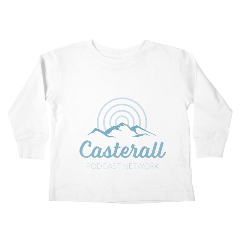 Listen in on the Casterall Podcast Network Kids Toddler Longsleeve T-Shirt by Jac=Jake