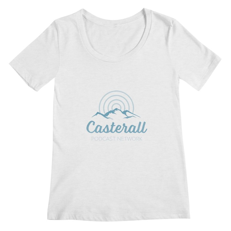Listen in on the Casterall Podcast Network Women's Scoopneck by Jac=Jake