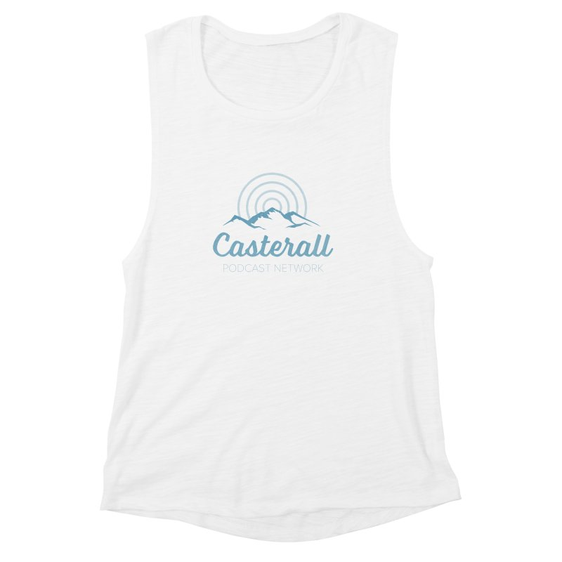 Listen in on the Casterall Podcast Network Women's Muscle Tank by Jac=Jake